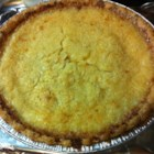 Coconut Custard Pie IV - Lots of good-tasting things in this rich pie 's filling: shredded coconut, evaporated milk, nutmeg, vanilla and eggs. It cooks up into a velvety custard that is poured into a pie shell and baked.
