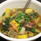 Chef John's Sausage, Zucchini, and Potato Stew  - Spicy smoky sausage adds flavor and zest to a simple stew of zucchini and potatoes.