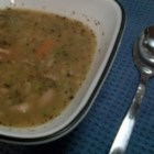 Turkey Bone Soup - Keep those good Thanksgiving feelings going after the holiday with this hearty turkey and rice soup.