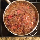 Elk Chili - A simple but tasty chili recipe using ground elk meat as the base. Best served with Mexican style cornbread.