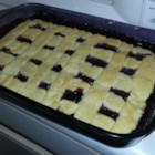 Brandy's Blackberry Cobbler - A crisscross lattice decorates this hot blackberry cobbler.