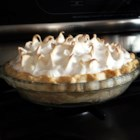 Meringue II - A perfect recipe for perfect meringue. A hot cornstarch syrup is carefully whisked into beaten egg whites until stiff peaks are formed. The meringue can be used to top a pie or swirled into individual meringue shells.