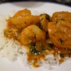 Ann's Shrimp Etouffee - Shrimp, onions, celery and mushrooms, seasoned with paprika, garlic and crushed red pepper. Great over steamed rice.
