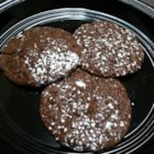 Chocolate Crisps - This recipe makes thin, dark chocolate cookies flecked with more chocolate.