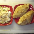 Catfish Pecan - Great catfish baked with a cornmeal crust and sprinkled with crushed pecans.