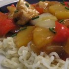Stir-Fried Chicken With Pineapple and Peppers - Here's an easy way to get low-fat protein (in the chicken breast) and lots of vitamins (in the scallions, peppers and pineapple). Plus, the dab of fresh ginger soothes stomachs and fights inflammation and blood clots.