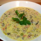 Minnesota Wild Rice Soup - This is an update on an old favorite from way up North.  This rich and creamy soup is extremely satisfying and completely vegetarian.