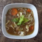 Leftover Turkey Soup (Slow Cooker) - Hearty turkey noodle soup made with leftover turkey in a slow cooker is a great meal for the day after Thanksgiving.