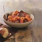 Johnsonville Italian Sausage Rigatoni  - This pasta dish combines Italian sausage, red bell peppers, and your favorite pasta sauce, for a simple and satisfying supper.