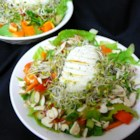 Bird's Nest Salad - Alfalfa sprouts create a nest for honey-glazed almonds in this Easter recipe.
