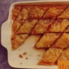 Yia Yia's Baklava - This traditional, delicious baklava has layers of tender phyllo dough with a walnut filling, and is coated in a spiced syrup.