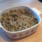 Pearl Barley Casserole - Pearl barley cooks up plump, moist, and savory with chicken broth and vegetables for a nice side dish.