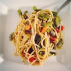 Pasta with Vegetables - You can include almost any vegetables you have in your fridge in this recipe.  It is popular even with those who normally scorn vegetarian food.