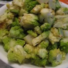 Roasted Romanesco - Roasted Romanesco, a cross between cauliflower and broccoli, is a tasty side dish that has a very interesting appearance!