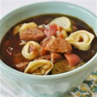 Sausage and Tortellini Soup - This phenomenal soup recipe gives your mouth an exquisite variety of textures and flavors. Cheese tortellini is added to a delicate beef consommé. A blend of veggies, herbs and spices only add to the mouth-watering appeal of this dish. Once you add the Johnsonville Smoked Sausage, this soup goes from heavenly to absolutely divine.