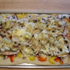 Photo of: Portobello Mushroom, Fresh Peppers and Goat Cheese Pizza - Recipe of the Day