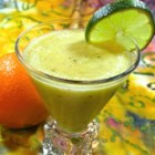 Sour Smoothie - A smoothie made with oranges, lemon, lime, and kiwi with a hint of honey is just the right amount of sweet and sour.