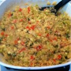 Baked Grains Pilaf - Millet and quinoa are baked with chicken broth and veggies for a hearty side dish for any meal.