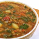 Easy Spinach Lentil Soup - This lentil soup is easy and delicious. Though the recipe calls for carrots, potatoes, and spinach, add any other vegetables you love.