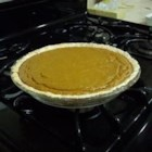 Pumpkin Pie V - It tastes like you spent hours stirring and baking, but all the yummy ingredients -pumpkin, sugar, eggs, milk and spices -are simply blended in a bowl, and then poured into a pastry-lined pie shell. It bakes up golden and delicious.