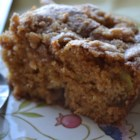 Apple Coffee Cake - This recipe is for a coffee cake studded with fresh apple chunks and with a crumble topping.