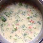 Emily's Broccoli Cheese Soup - This broccoli cheese soup is a simple weeknight dinner that uses reduced-fat and low-sodium ingredients.