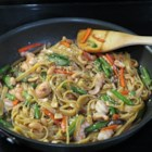 Easy Shrimp Lo Mein - A sauce made with soy sauce, oyster sauce, fish sauce, brown sugar, garlic, and ginger is the key component to this Asian noodle dish with shrimp.