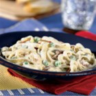 Fettuccine Carbonara - Just four ingredients make a delicious, creamy classic pasta dish, and it's ready to serve in less than 30 minutes.