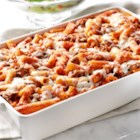 Ragu No Boiling Beefy Baked Ziti - Quick and easy, this baked ziti will help save you time and be a hit with the family.