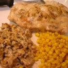 Minnesota Pork Chops - Scrumptious wild rice and pork chop casserole with creamy mushroom sauce.