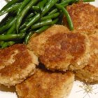 Fabienne's 'Black-Eyed' Crab Cakes - Crab cakes with black-eyed peas in the batter are a tasty new twist on traditional crab cakes.