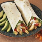 California Club Chicken Wraps - The classic California club sandwich is now featured as a wrap stuffed with bacon, lettuce, Monterey Jack cheese, avocado, chicken, tomato, onion, and a zesty chipotle mayonnaise.