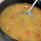 Canadian Yellow Split Pea Soup with Ham - Canadian-style yellow split pea soup is a gift to your leftover ham bone, and to you on a cold day.