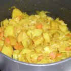 Ethiopian Cabbage and Potato Dish (Atkilt) - This Ethiopian side dish is a mixture of carrot, onion, potato, and cabbage cooked with a variety of seasonings.
