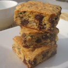 Bar Cookies from Cake Mix - A bar cookie that has chocolate chips and nuts. This is easy and delicious.