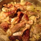 Pork Loin and Cabbage - Pork loin chops cooked in a skillet with cabbage. My kids love this recipe!