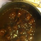 Oven Meatballs - It's super-easy to bake these ground beef meatballs in a tangy-sweet sauce.