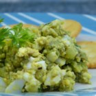 Light Avocado Egg Salad - Avocado makes a smooth, rich dressing for a lighter version of egg salad that doesn't contain mayonnaise.