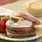 Country Style Chicken Sausage Eggs Benedict - Eggs Benedict made with chicken sausage, whole wheat English muffins, and Hollandaise sauce is a hearty way to start the day.