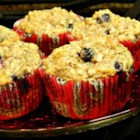 Blueberry Banana Coconut Flax Muffins - Coconut, banana, and flax add a little something extra to blueberry muffins.