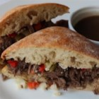 Chicago-Inspired Italian Beef Sandwich  - Combine the traditional Italian beef sandwich with the French dip sandwich and throw in a nod to the pulled pork sandwich and voila; the Chicago-inspired Italian pulled-beef sandwich!