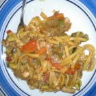 Chicken Chow Mein (West Indian Style) - West Indian-style chicken chow mein gets a zippy flavor from ginger and chile peppers and is tossed with soy sauce and cilantro for a spicy, flavorful meal.