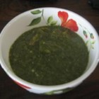 Trinidadian Callaloo Soup - This tasty Trinidadian-style soup is made with spinach to evoke the flavor and texture of callaloo, or amaranth, a common green in Trinidad.
