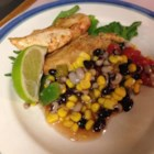 Fiesta Grilled Chicken - Grilled skinless, boneless chicken breasts grab some Southwestern flair when marinated in lime juice and tequila, and topped with a zesty black bean, corn, black-eyed pea, green chile, and tomato salsa. Apple juice can be substituted for the tequila if you choose, and the chicken breasts can also be broiled.