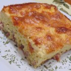 Oven Omelet - Light Version - Ham and cheese oven omelet is made a little lighter with low-fat ham and reduced-fat provolone cheese.