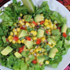 Avocado and Corn Salsa - This is a super easy and very fresh summer salsa using avocado, corn, red pepper, shallots, cilantro, and lime juice.