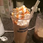 Starbucks(R) Caramel Frappuccino Copycat Recipe - Make your own caramel frappuccino at home with 5 simple ingredients and a blender. Top with whipped cream and caramel!