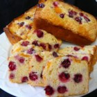 Moist Cranberry Orange Bread - Mandarin oranges and whole cranberries keep this moist quick bread tangy and sweet.