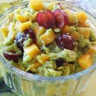 Fruity Guacamole - Grapes and peaches mix with avocado in this unique guacamole-style dip.