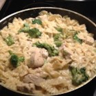 Katie's Chicken and Broccoli Pasta - Cubed chicken breast, asparagus, and broccoli combine with penne pasta in this delicious pasta creation.
